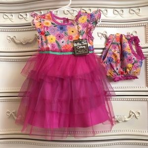 Nwt 2pc MATILDA JANE Tulle floral Dress 18-24m